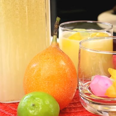 Tropical Passion Fruit Juice with CaribbeanPot