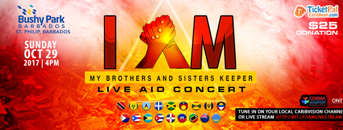 """I AM"" – Caribbean Hurricane Relief Benefit Concert – October 29th"