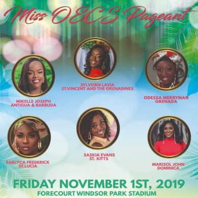 Miss OECS Pageant LIVE Friday, November 1st